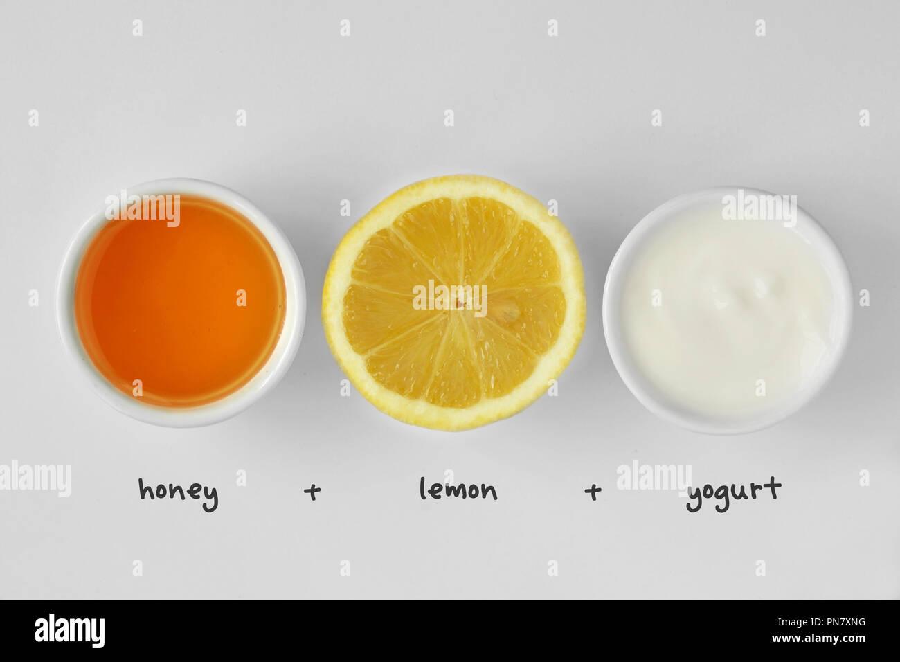 maschera viso limone