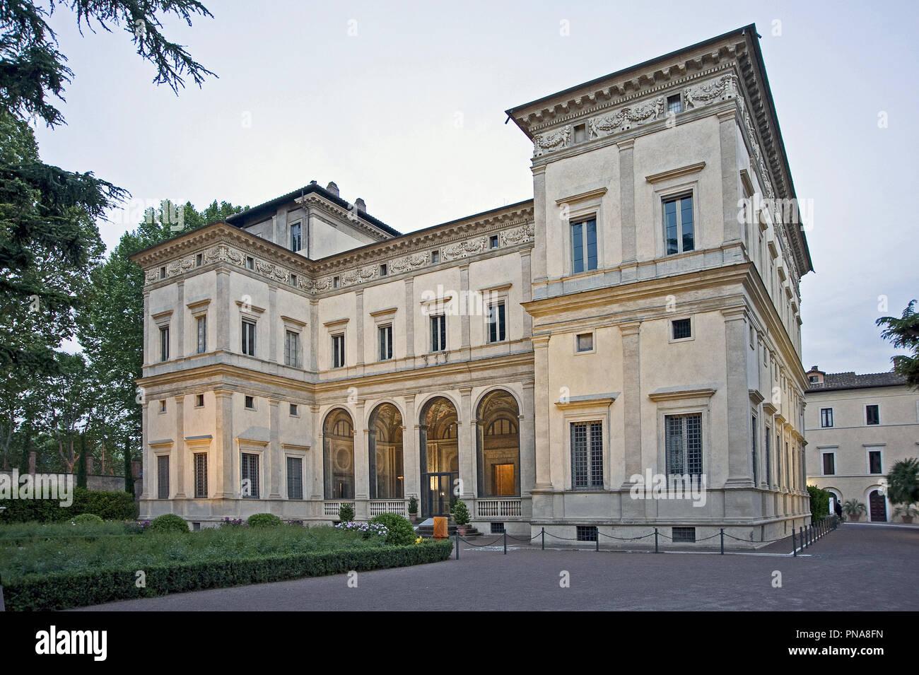 Villa Farnesina in Via della Lungara, ospita l'Accademia Nazionale dei Lincei e la sua importante biblioteca , roma, Italia Foto © Fabio Mazzarella/peccato Immagini Stock
