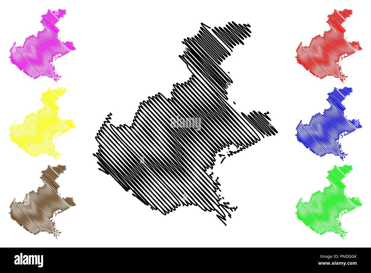 Veneto Regione Cartina.Veneto Map Vector Immagini E Fotos Stock Alamy