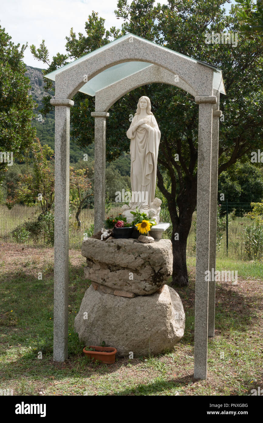 Religioso santuario. La Foresta Demaniale dei Sette Fratelli Provincia di Cagliari. Sardegna Foto Stock