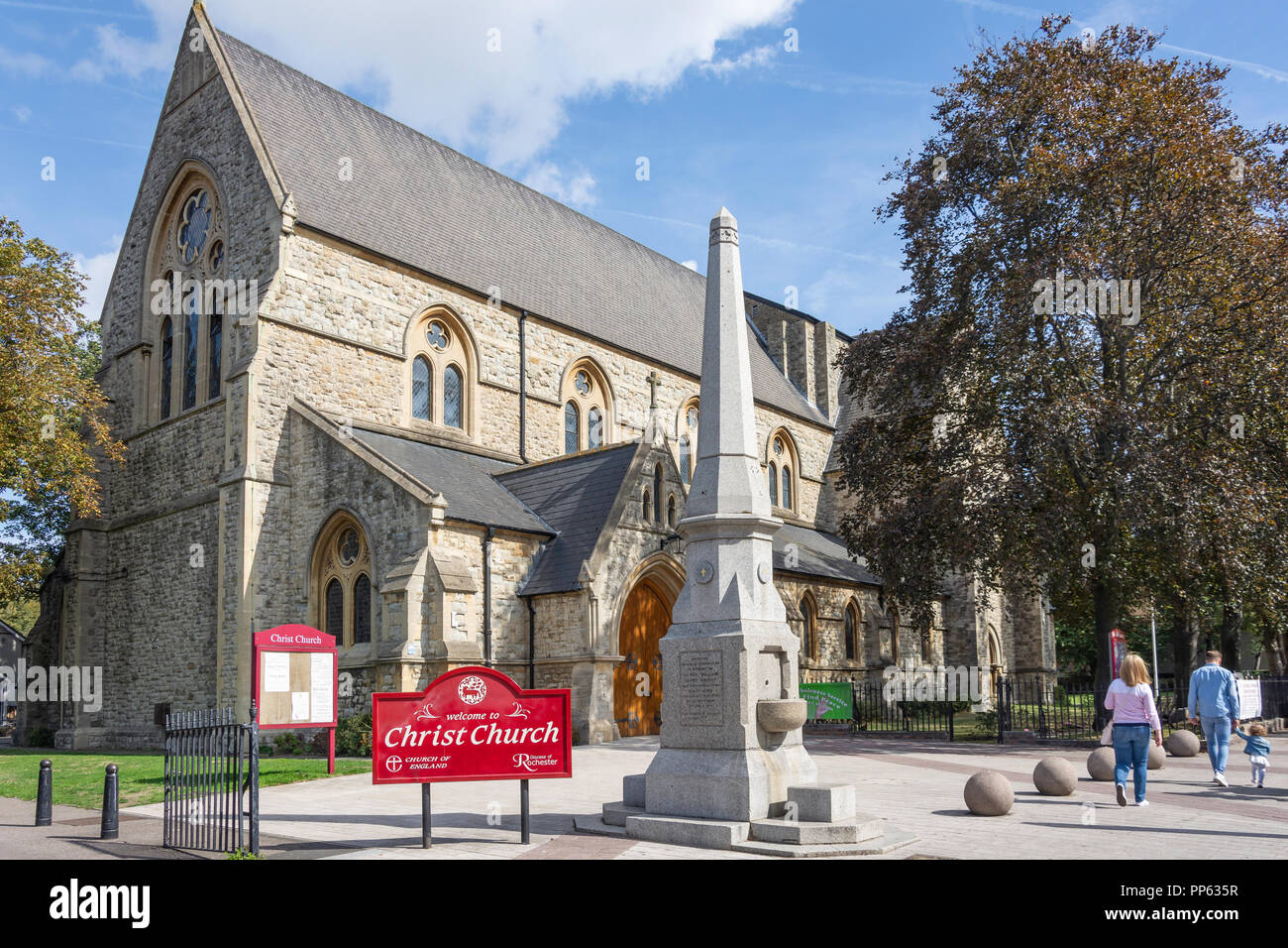 La Chiesa di Cristo, il Broadway, Bexleyheath, London Borough of Bexley, Greater London, England, Regno Unito Immagini Stock