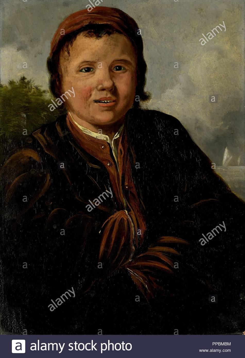 Fisher Boy, copia dopo Frans Hals, 1800 - 1899. Immagini Stock