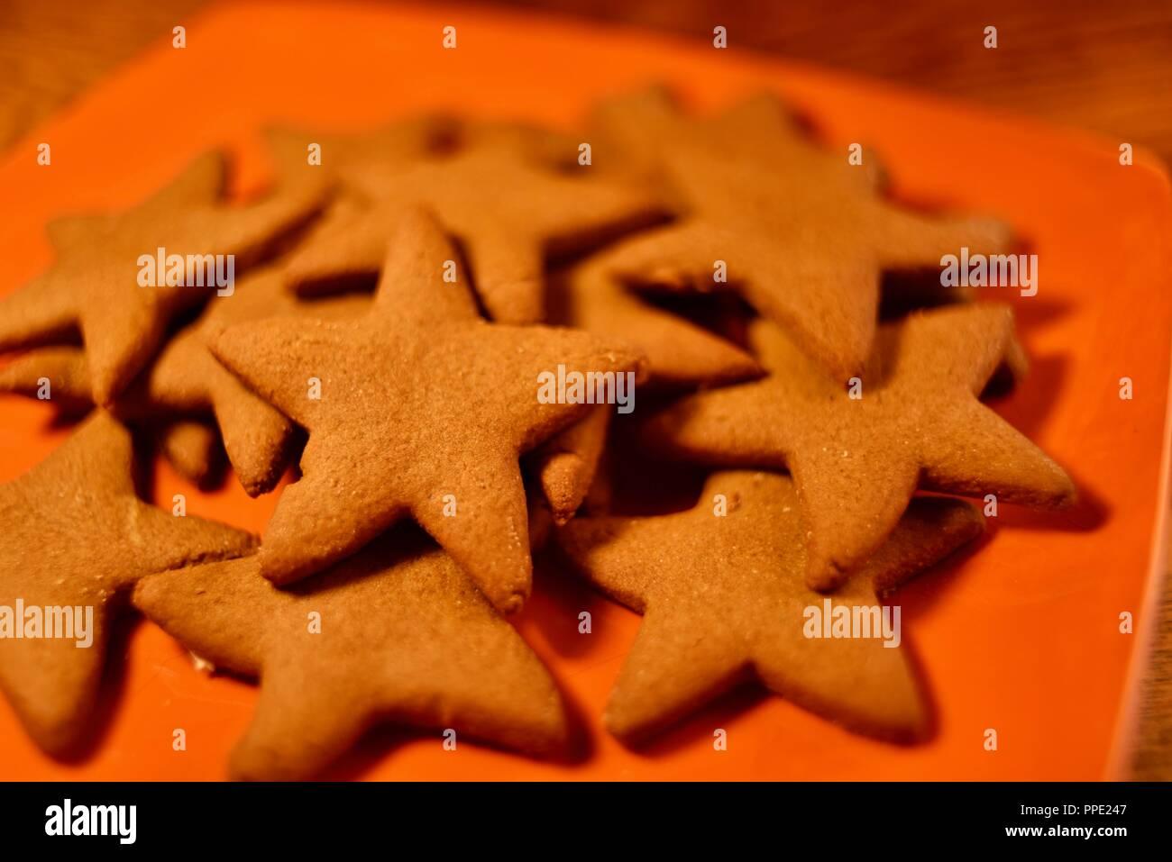 Biscotti Di Natale Usa.Tradizionale Piparkukas Lettone Panpepato Stelle Fatti In Casa