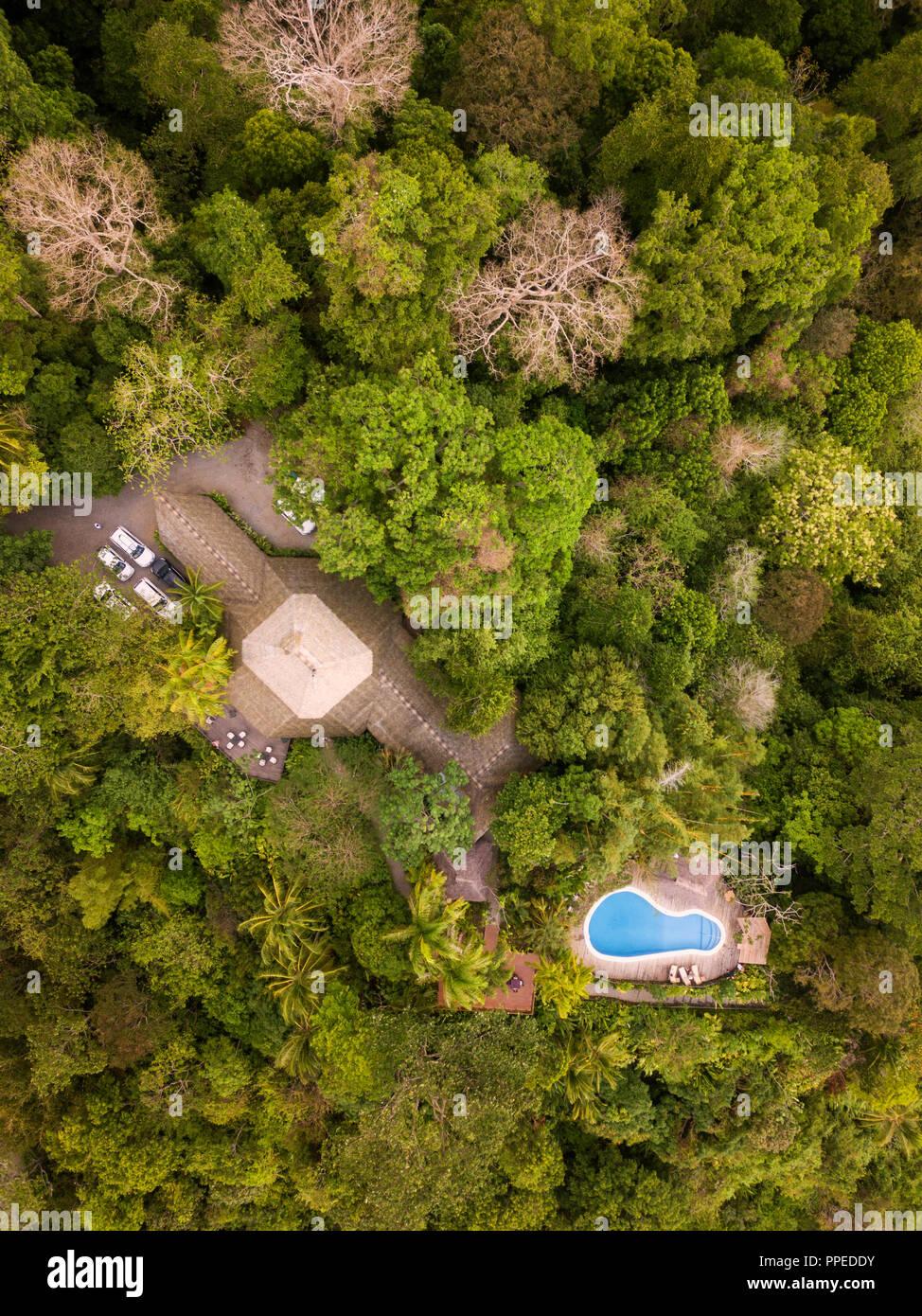 Guesthouse, Parco Nazionale di Tortuguero, Costa Rica Immagini Stock