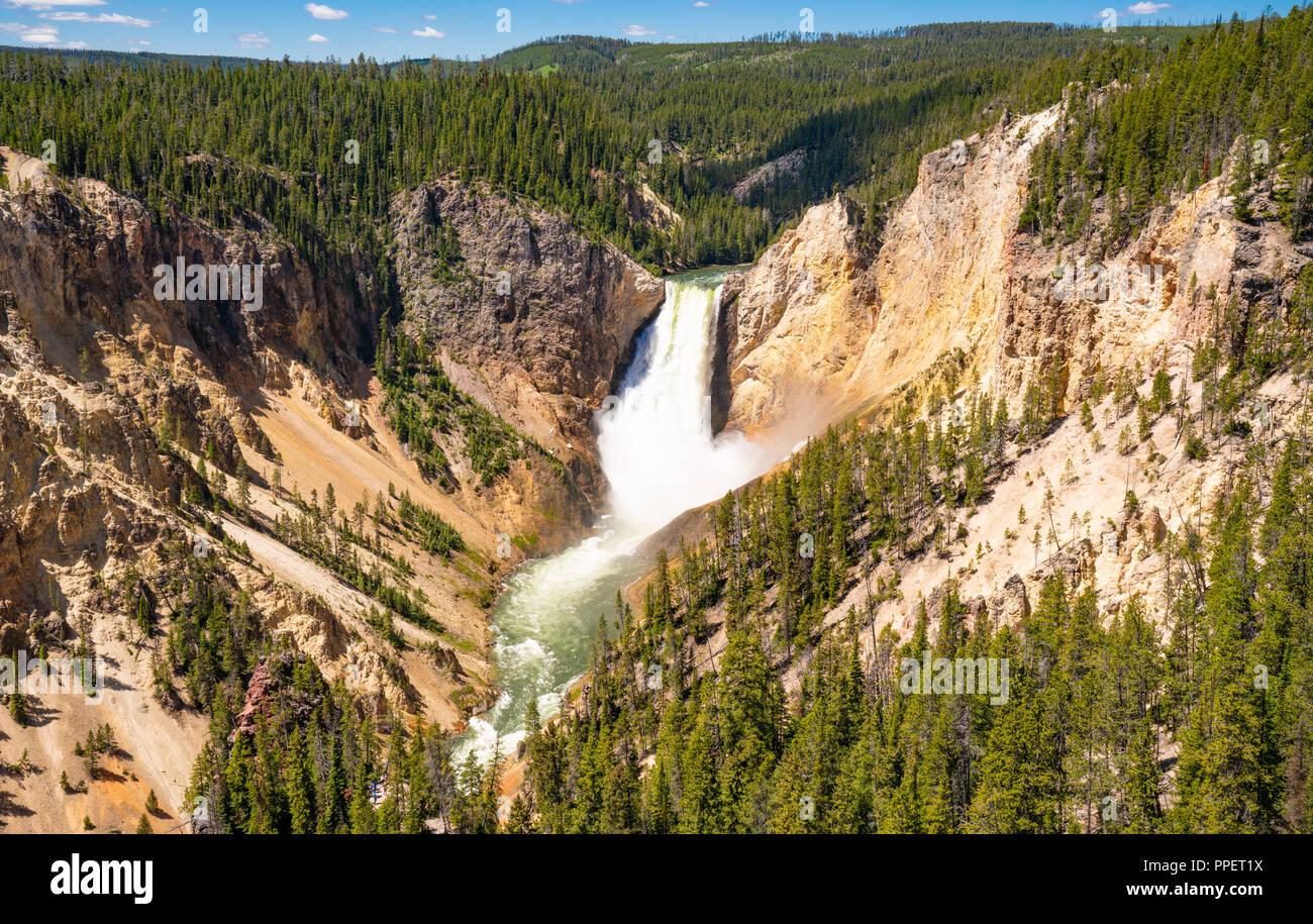 Le Cascate Inferiori del Canyon di Yellowstone nel Parco Nazionale di Yellowstone, Wyoming Immagini Stock
