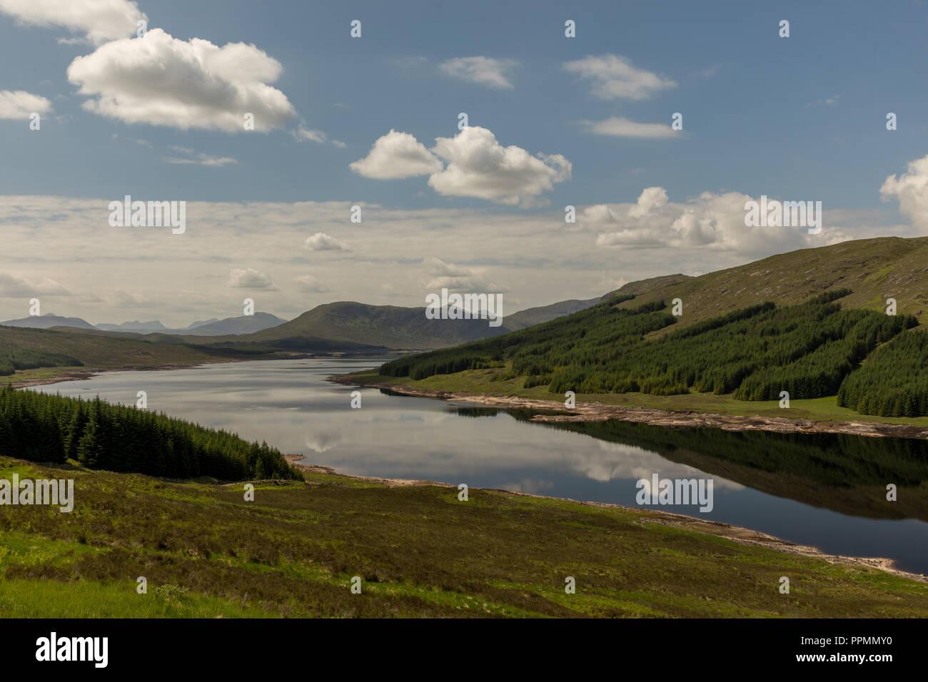 Fahrt durch die Highlands nach Fort William Immagini Stock