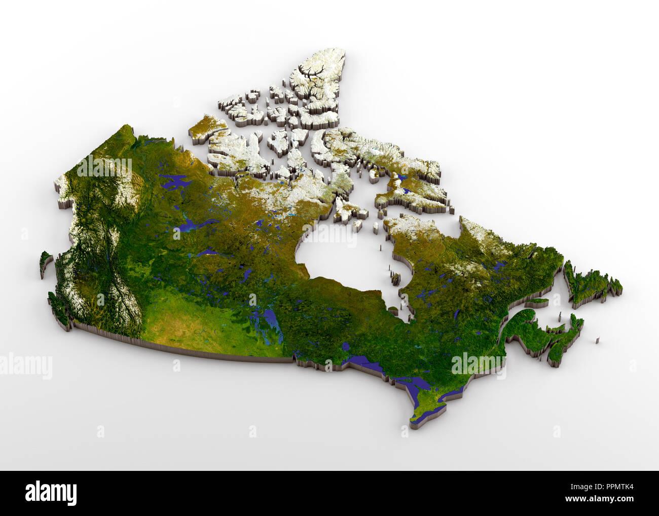 Canada Cartina Fisica.Mappa Politico Di Alberta Foto Stock Alamy