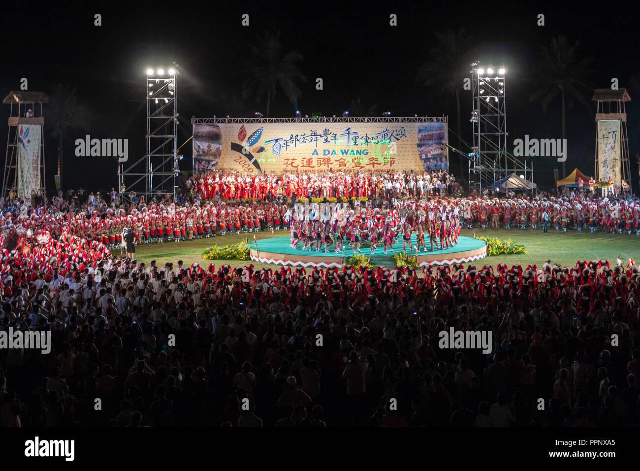 "2009 ""Un DA WANG' Culture Indigene Festival (Aboriginal Harvest Festival) a Hualien City, Hualien County, Taiwan Immagini Stock"