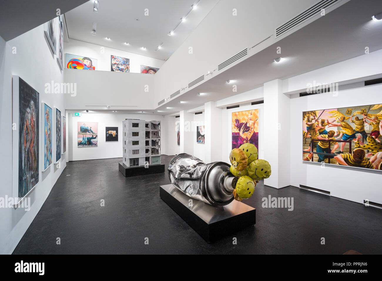 Berlino. Germania. Nazione urbane Museo Urbano per l'arte contemporanea, Bülowstraße 7, Schöneberg. Immagini Stock