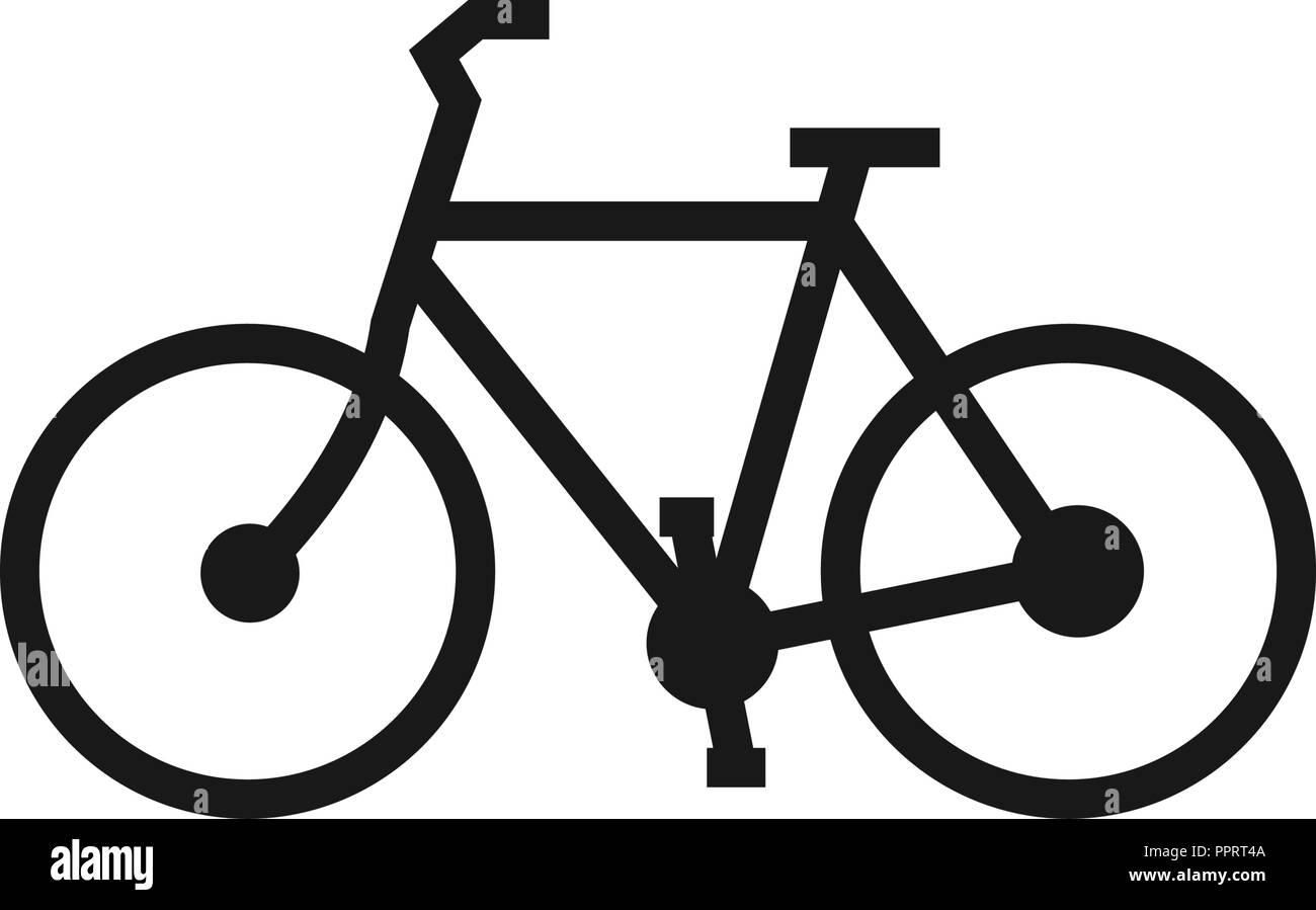 La Linea Arte Della Bicicletta Il Logo Del Modello Di Progettazione