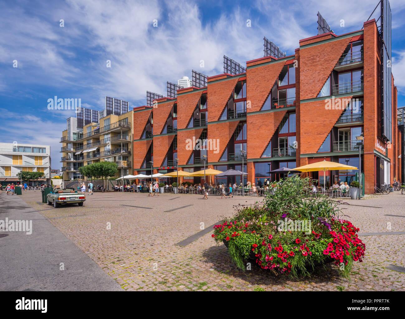 V.E.S.P.A. Ristorante innovativi nel quartiere di Västra Hamnen (Western Harbour) a Malmö, Scania in Svezia Immagini Stock