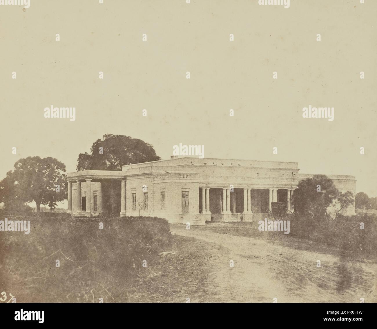 Bénarès, hotel anglais, Spécimen du abitare italienne au Bengale; il barone Alexis de La Grange, francese, 1825 - 1917, Francia Immagini Stock