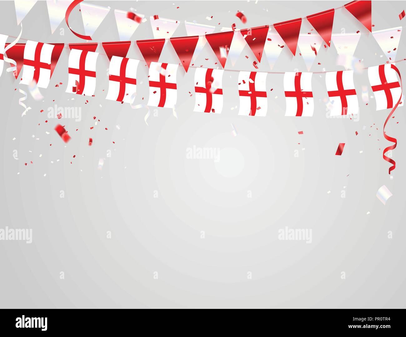 Inghilterra Bandiere Celebrazione Del Modello Dello Sfondo Con I