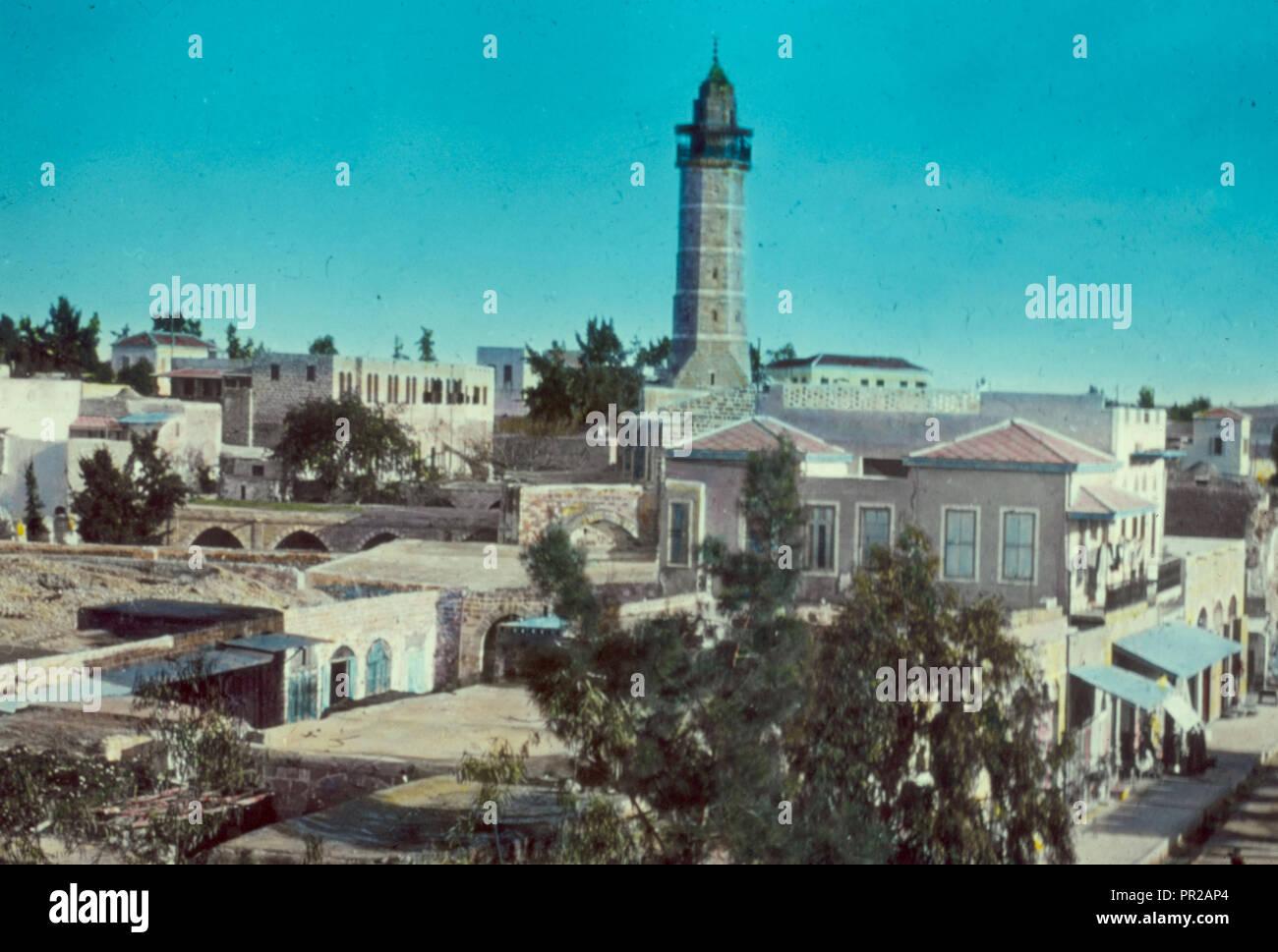 Sud della Palestina, Hebron Beersheba e area di Gaza. La striscia di Gaza, la sezione centrale. 1950, Striscia di Gaza Immagini Stock