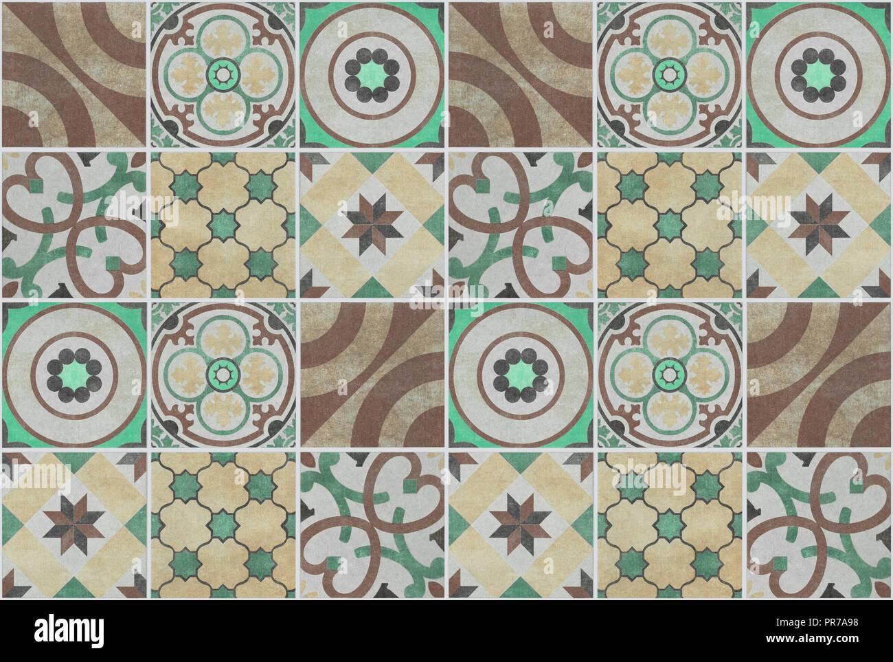 Colorato modello patchwork sfondo piastrelle design piastrellato