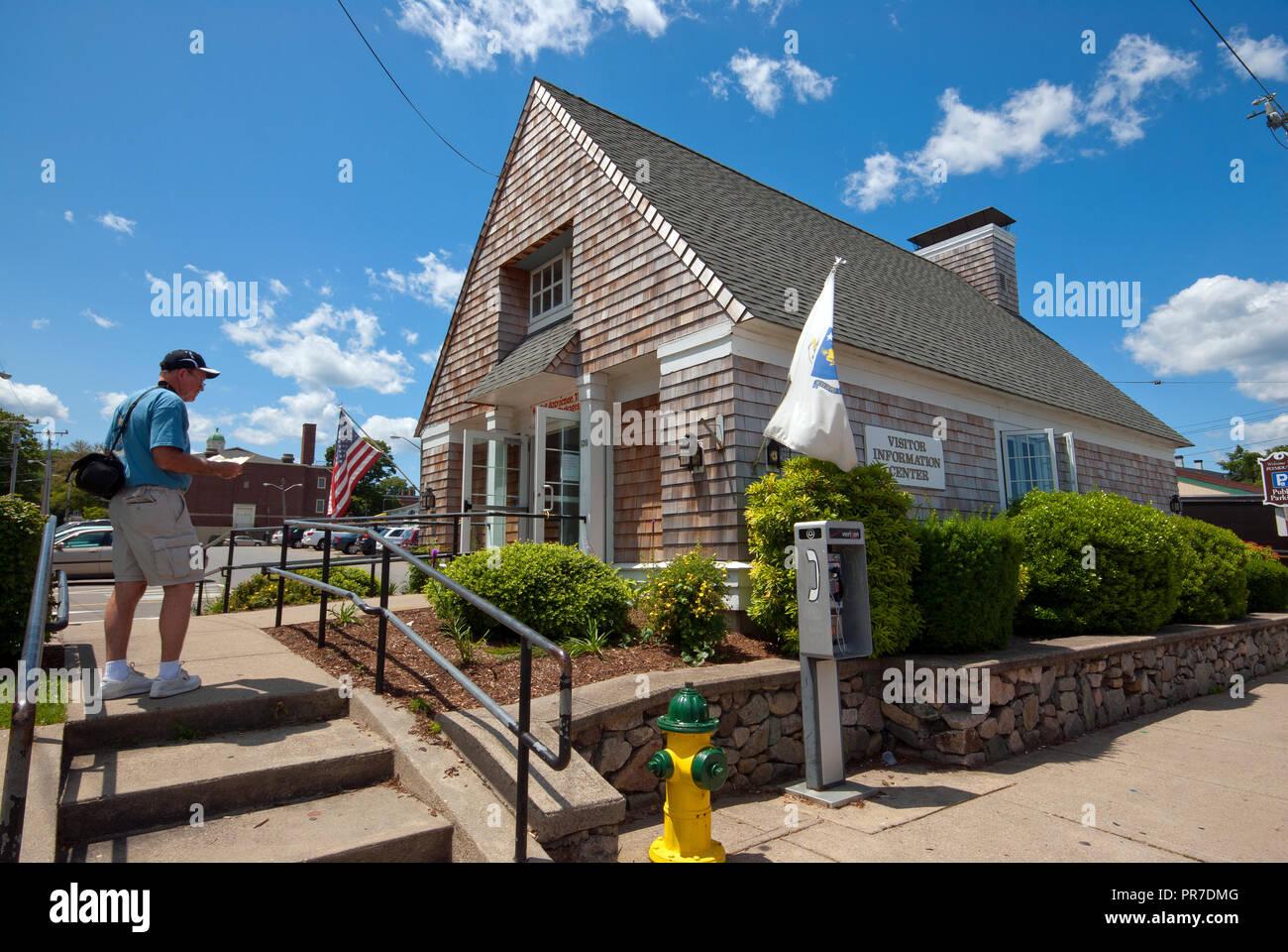 Centro Informazioni visitatori a Plymouth, Plymouth County, Massachusetts, STATI UNITI D'AMERICA Immagini Stock
