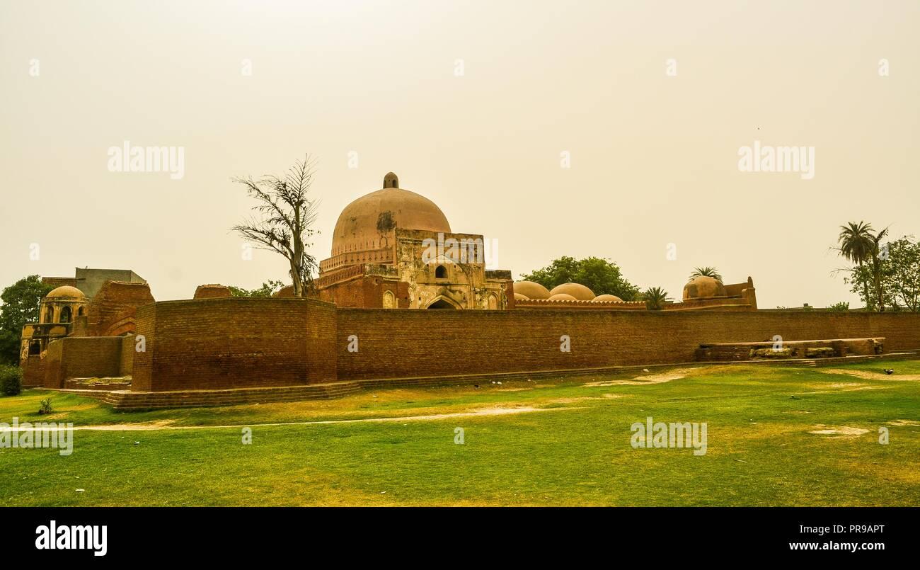 Kabuli Bagh Moschea - l'originale Babri Masjid in Panipat, Haryana (India) Immagini Stock