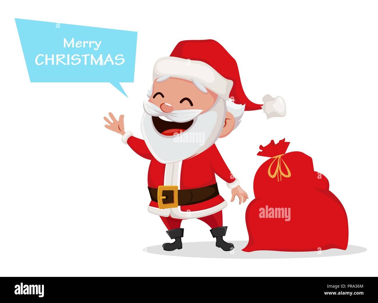 Parole Di Buon Natale.Auguri Di Buon Natale Funny Santa Claus Allegro