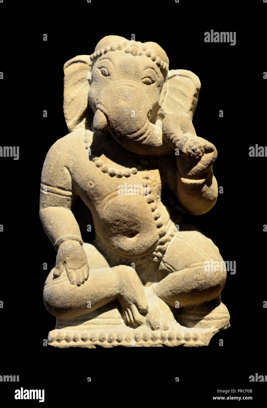 Divinità indù Ganesha (anche Ganapati, Vinayaka, Pillaiyar o Binayak) particolare di una scultura di Shiva da un tempio indù, c AD1000. British Museum, Blo Immagini Stock