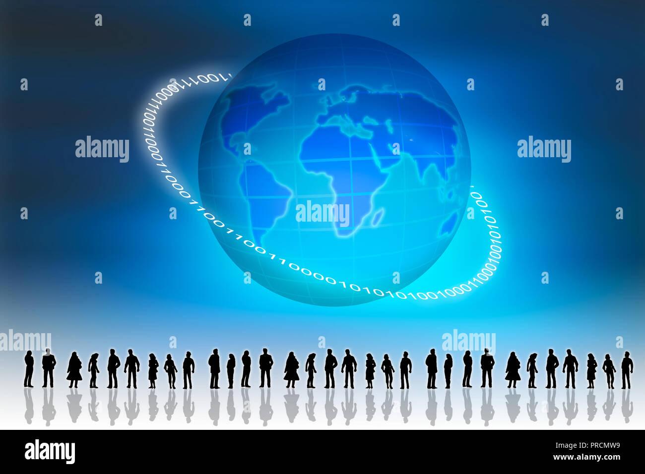Global social networking Immagini Stock