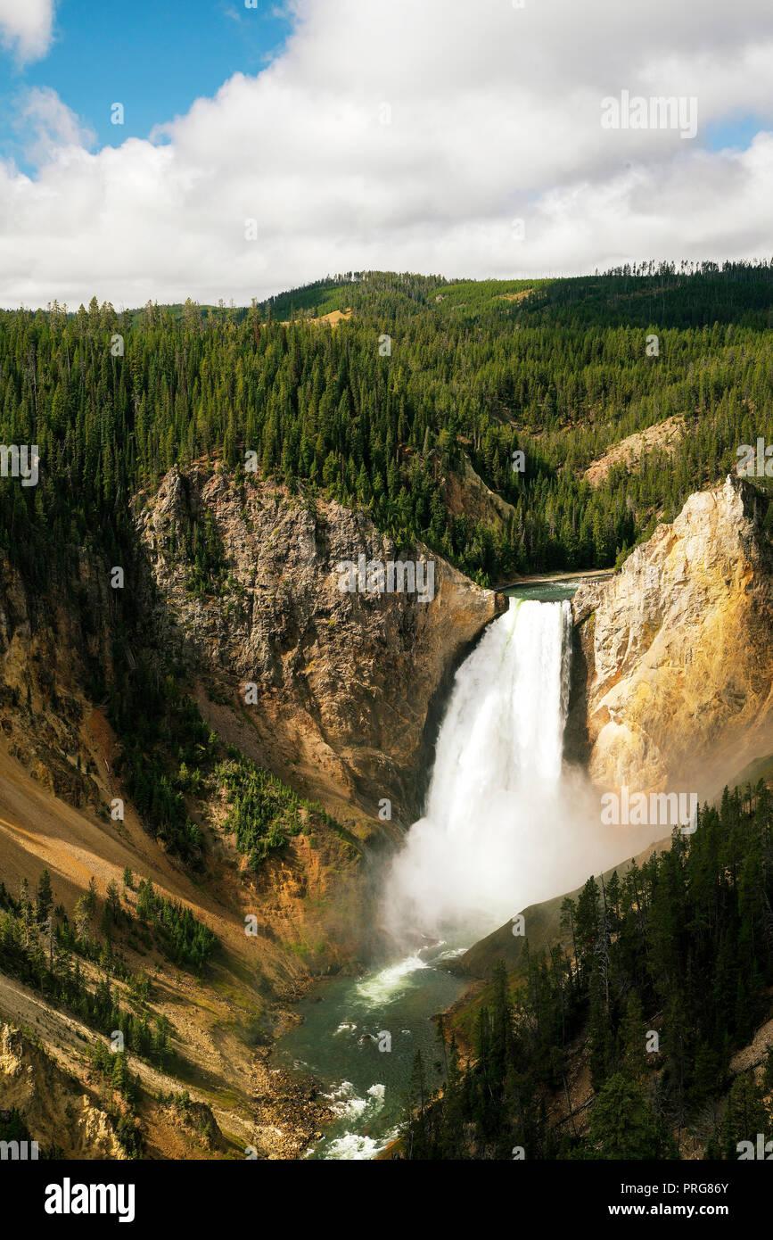 Le Cascate Inferiori del Grand Canyon di Yellowstone presso il Parco Nazionale di Yellowstone. Immagini Stock