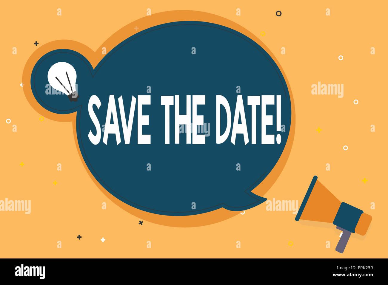 Calendario Significato.Testo Della Scrittura Salva La Data Concetto Significato