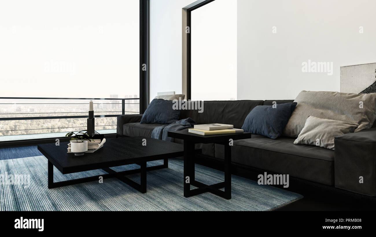 Grandi e comodi divani con cuscini in una vita moderna for Divani comodi