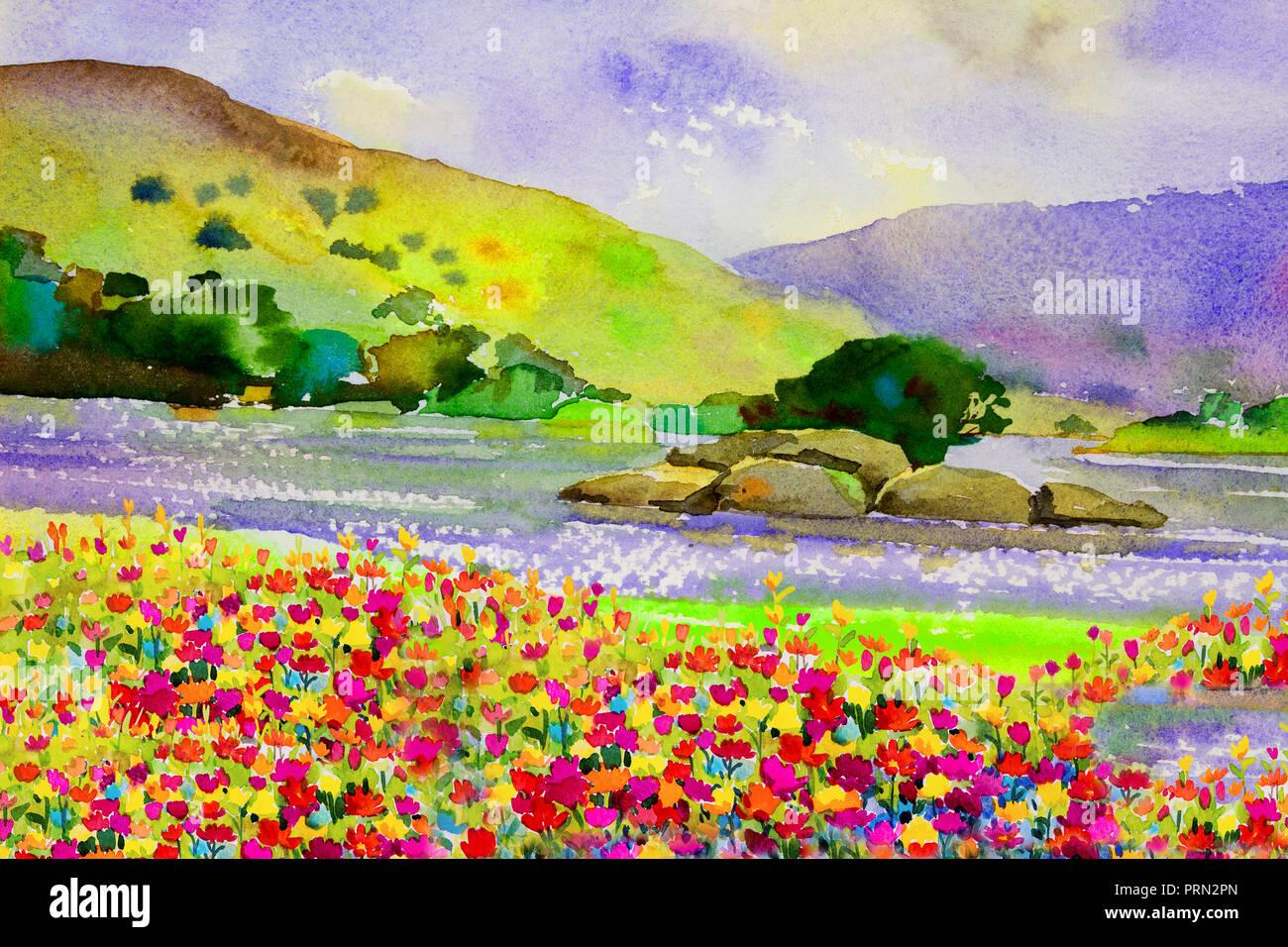 Dipinti Ad Acquerello Di Paesaggio Immagini Dipinti Ad