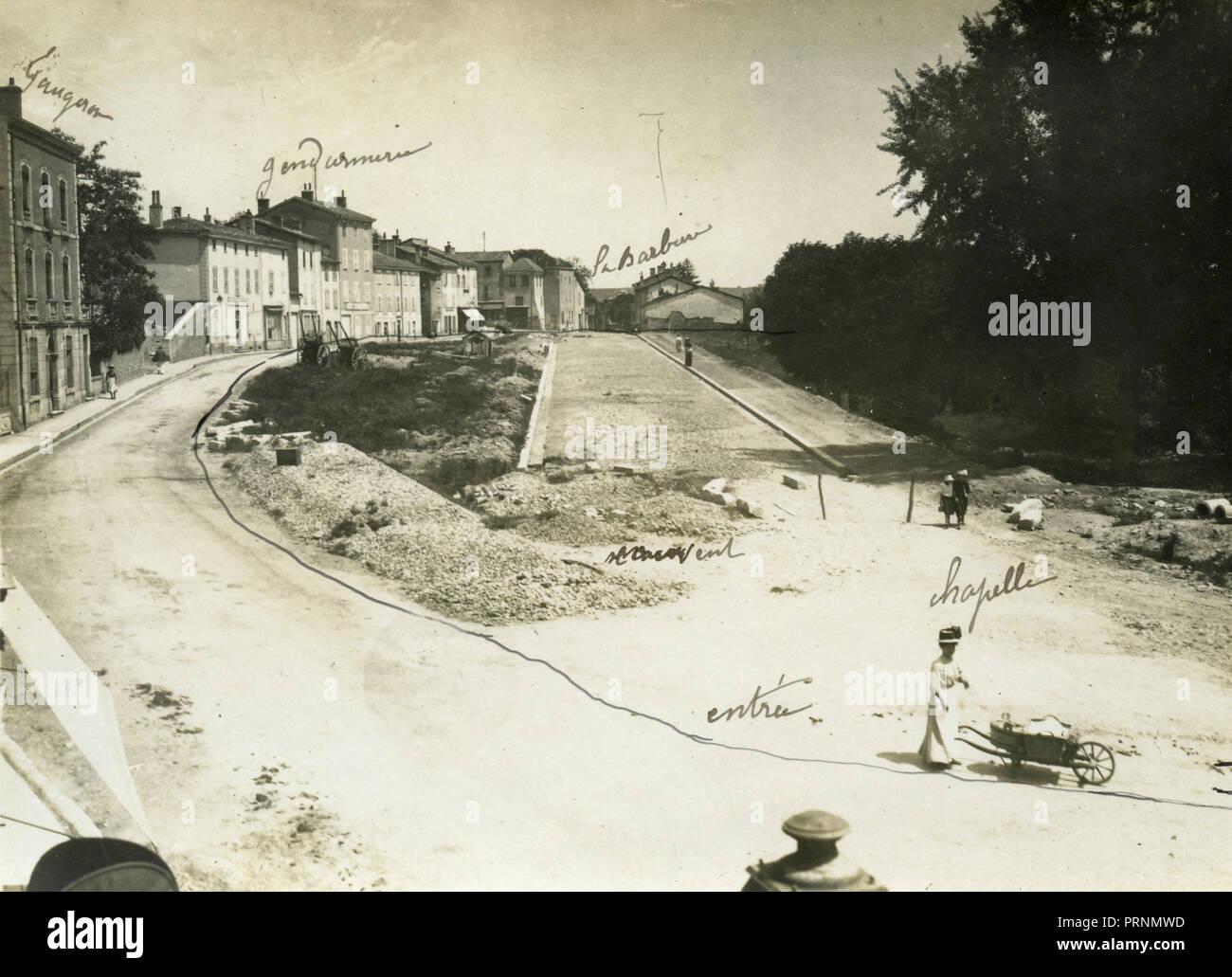 Collocazione del Carmelo monastero, Grevouse, 1910 Immagini Stock