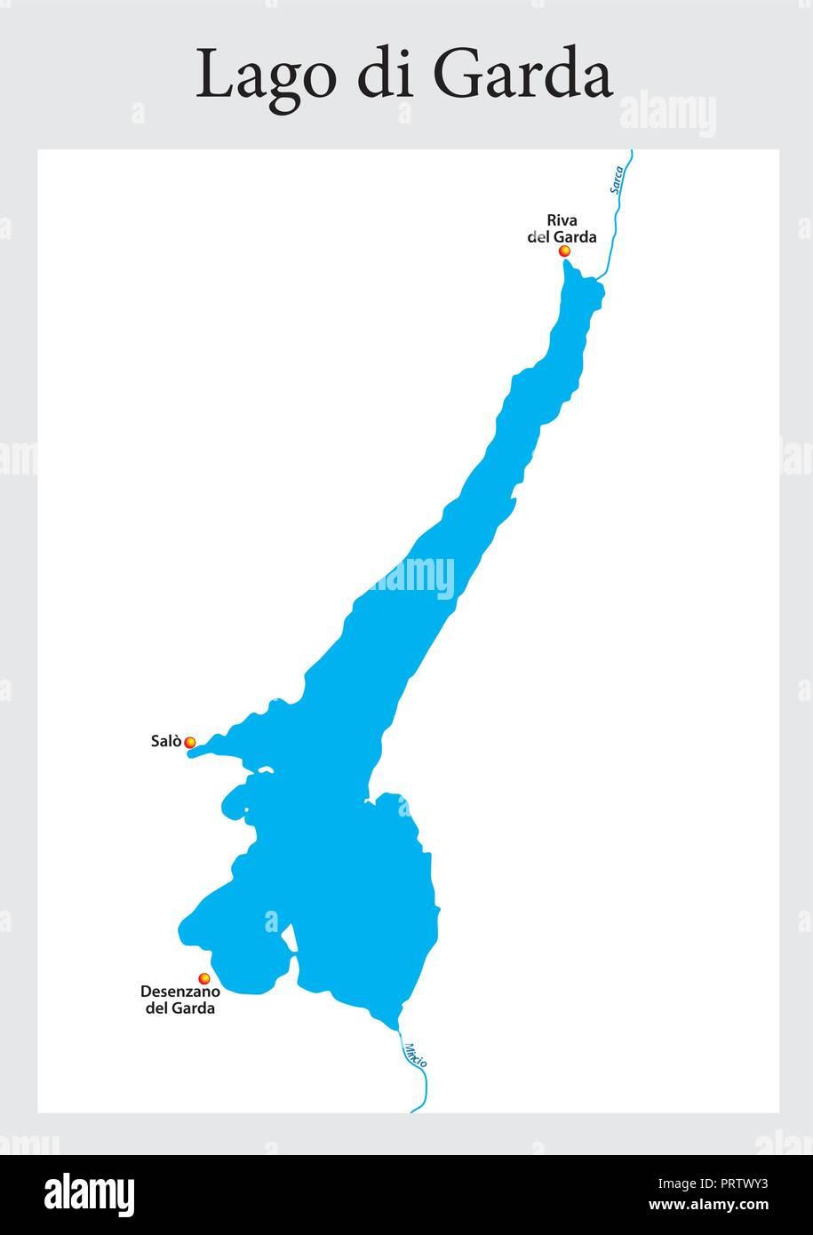 Cartina Lago Maggiore Stradale.Map Lake Garda Immagini E Fotos Stock Alamy