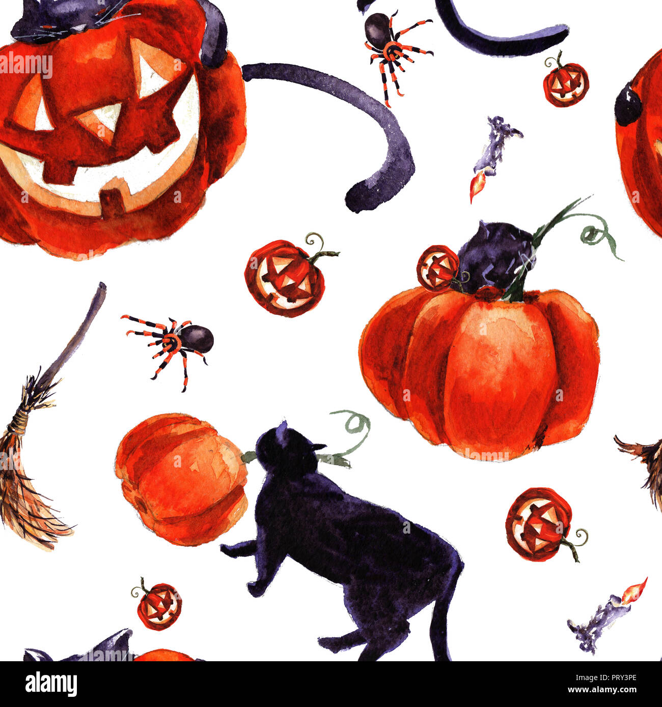 Set Di Halloween Holiday Simbolo Disegnato A Mano Illustrazione Ad