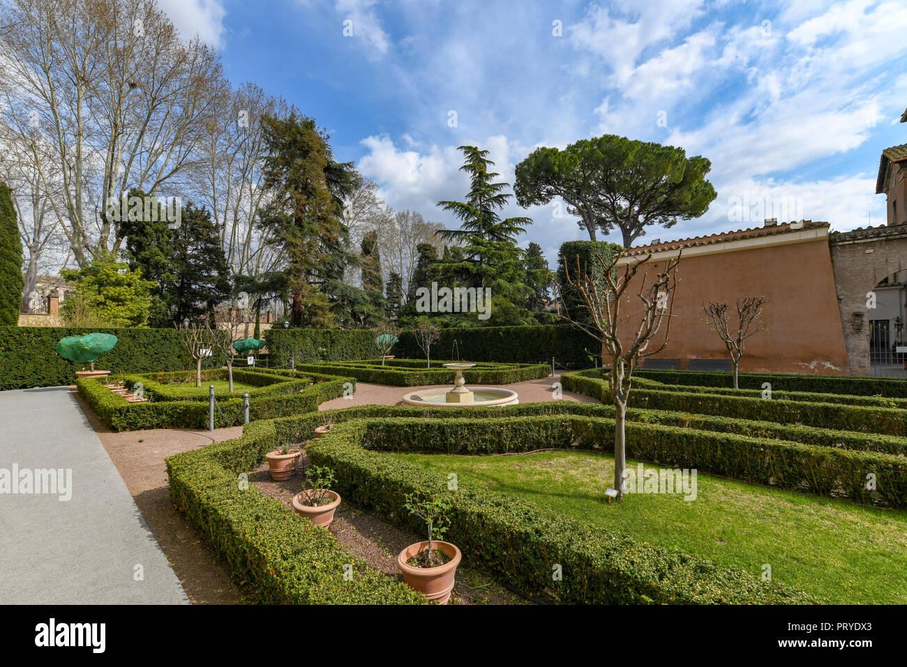 Costruzione di Villa Farnesina nel quartiere Trastavete nella città di Roma, Italia Immagini Stock