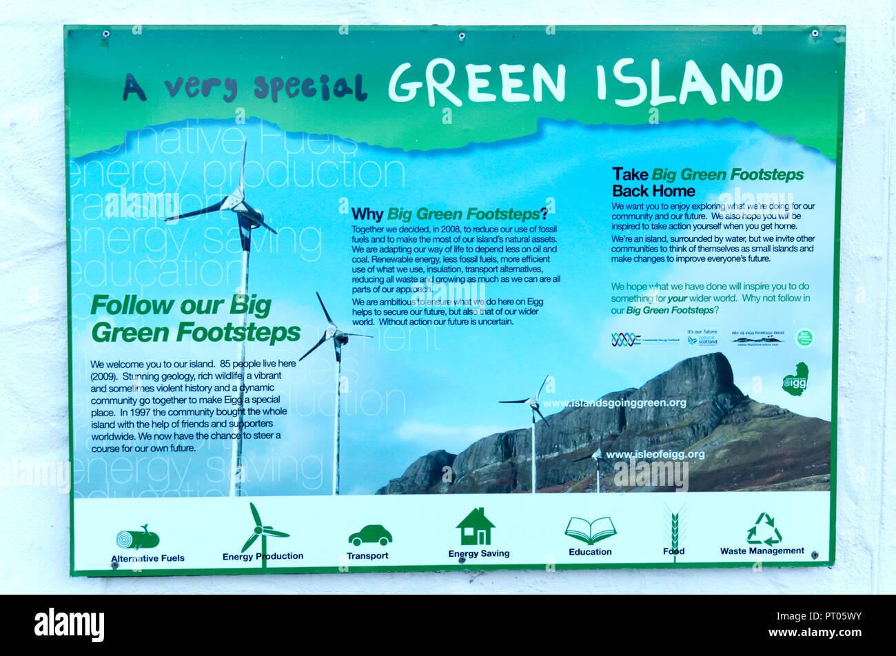 Isola di Eigg isola verde, Ebridi Immagini Stock