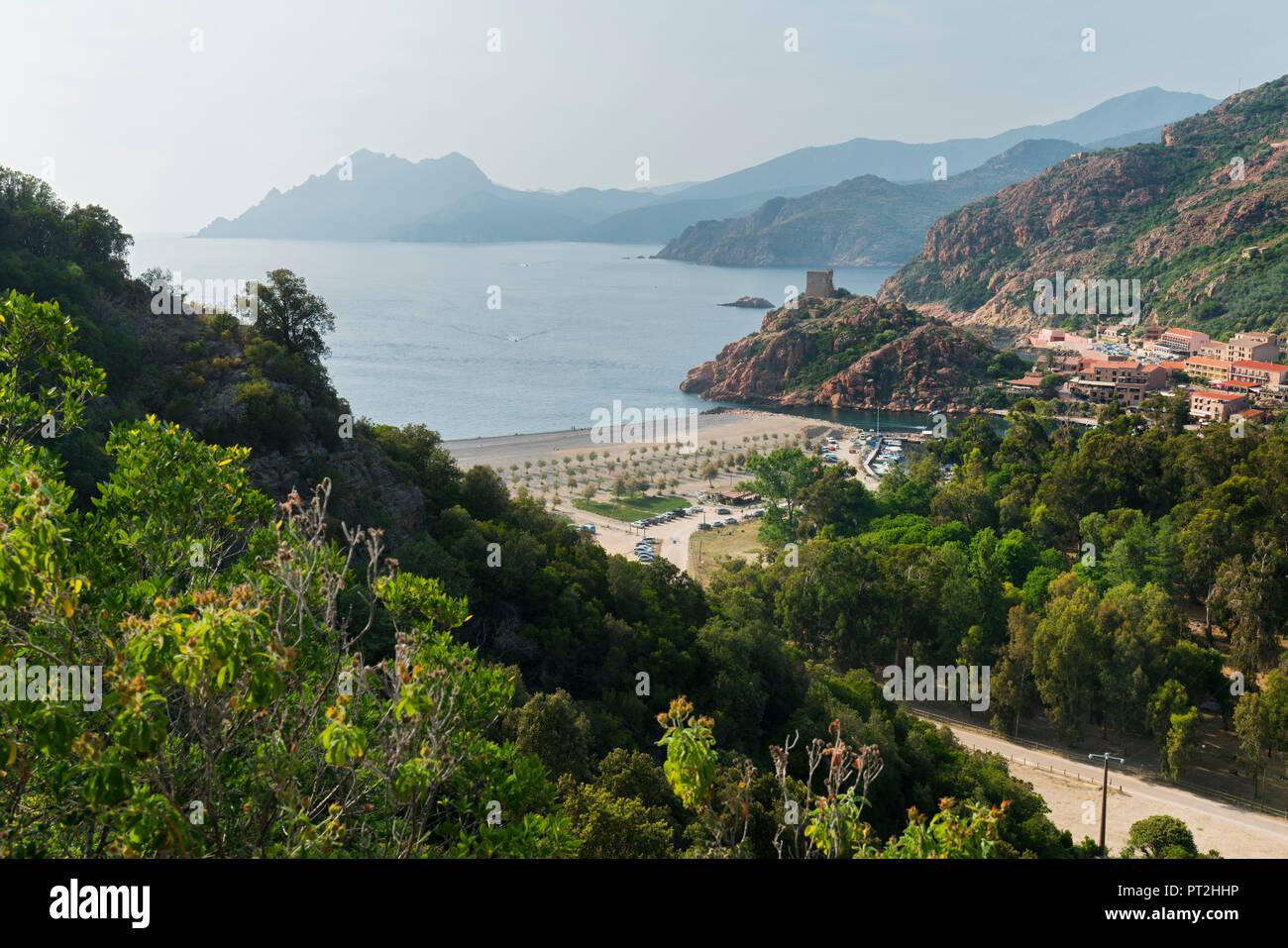 Porto, Calanche, Corsica, Francia Immagini Stock