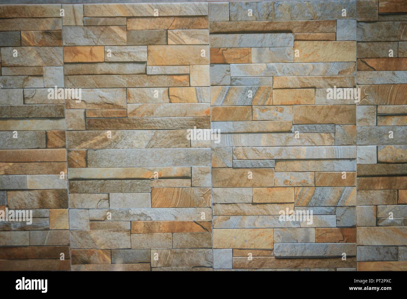 Piastrelle a muro modellata come la pietra naturale spaccata