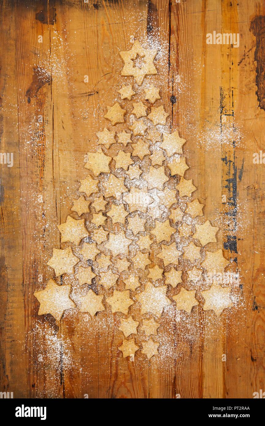 Stella Di Natale Legno.A Forma Di Stella Di Formatura Di Biscotti Albero Di Natale Su