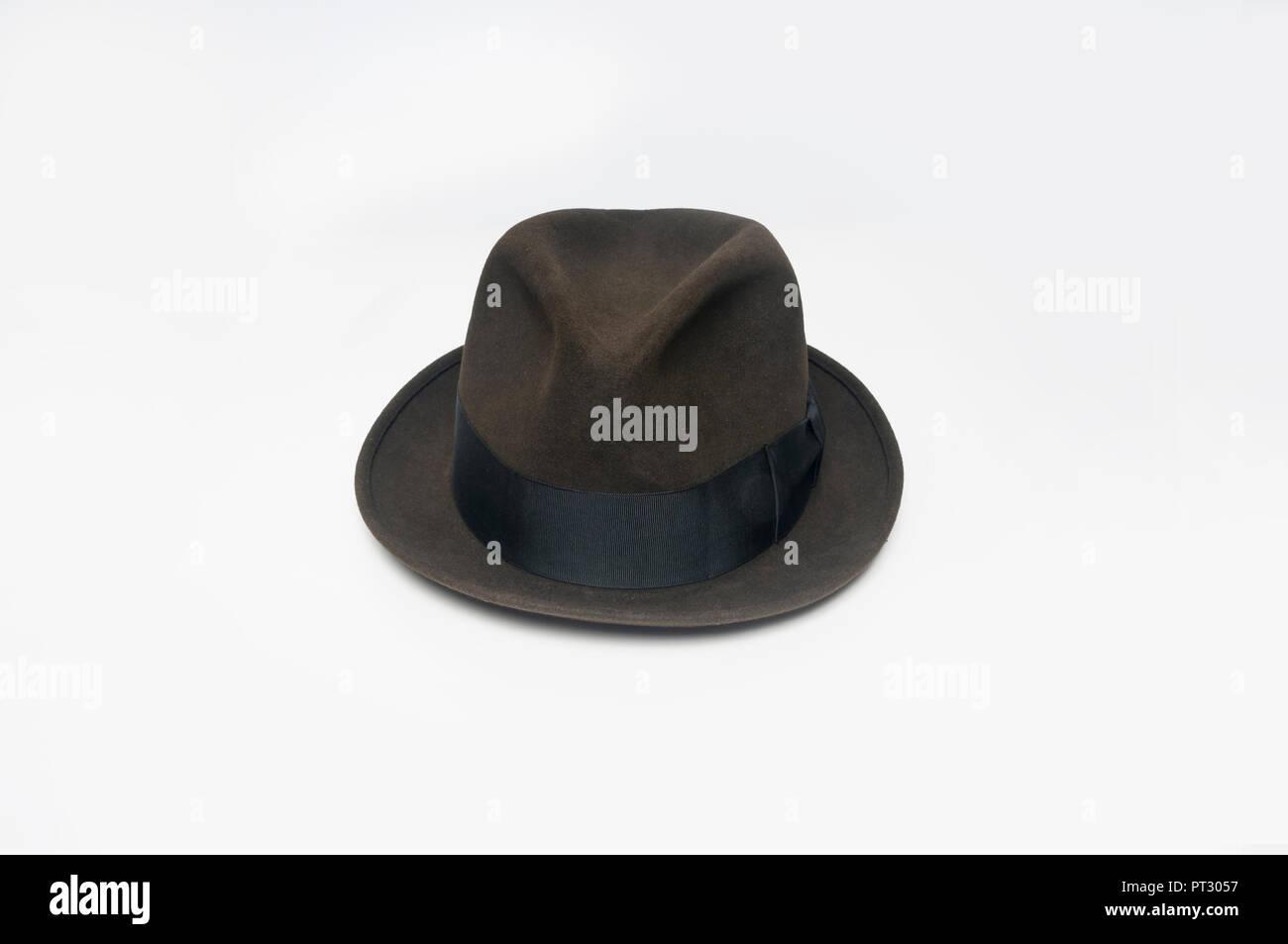 Un cappello o fedora, uno stile denominato un maiale-pie hat. Immagini Stock