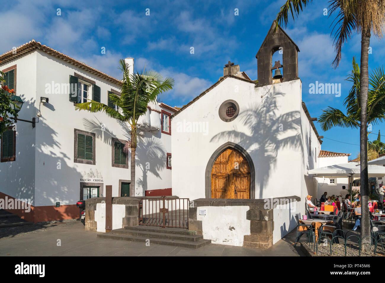 La facciata del Corpo Santo cappella nella Città Vecchia, Funchal, regione di Madera, Portogallo, Immagini Stock