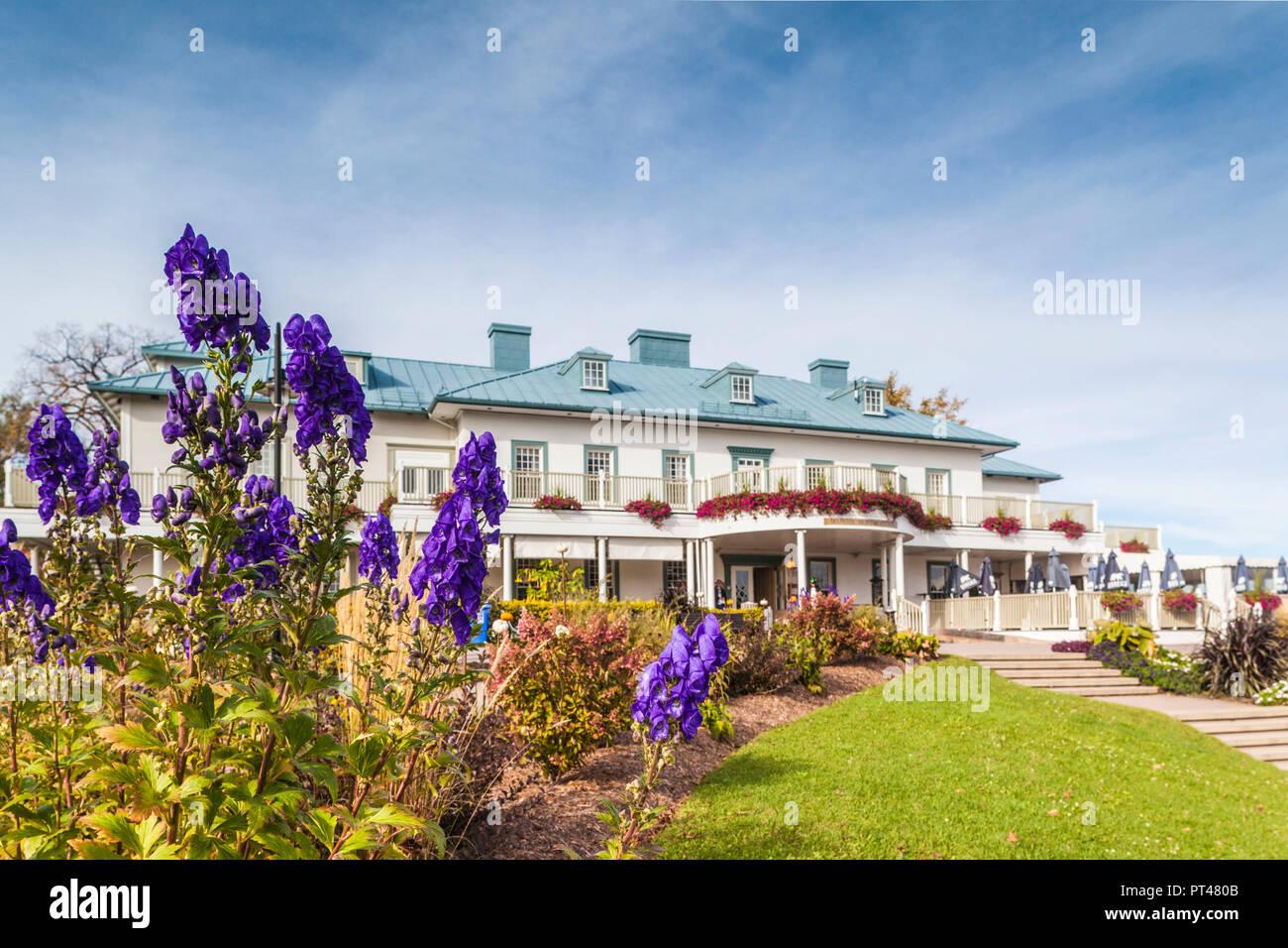 Canada Quebec, Quebec City, Montmorency, scivoli Montmorency, cascate, Manoir Montmorency, ristorante Foto Stock