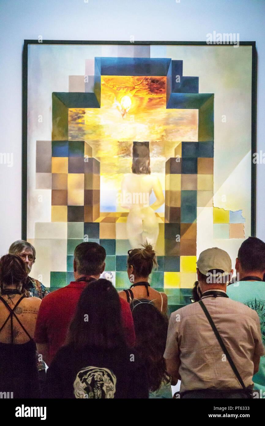 San saint petersburg florida salvador dali museum di arte surrealista interno lincoln in dalivision pittura immagini