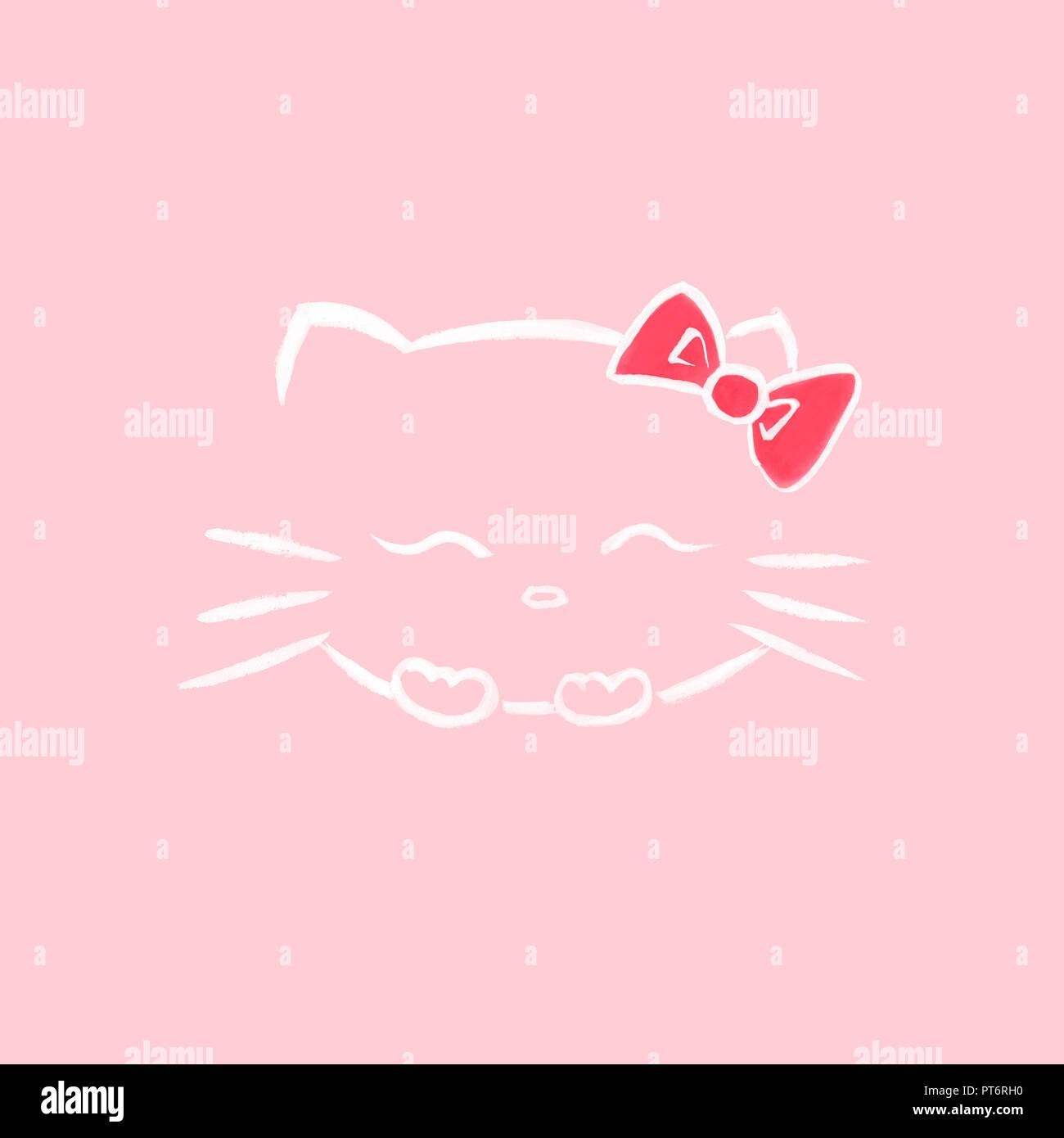 Carino Sorridente Hello Kitty Con Un Inchino Giapponese Kawaii