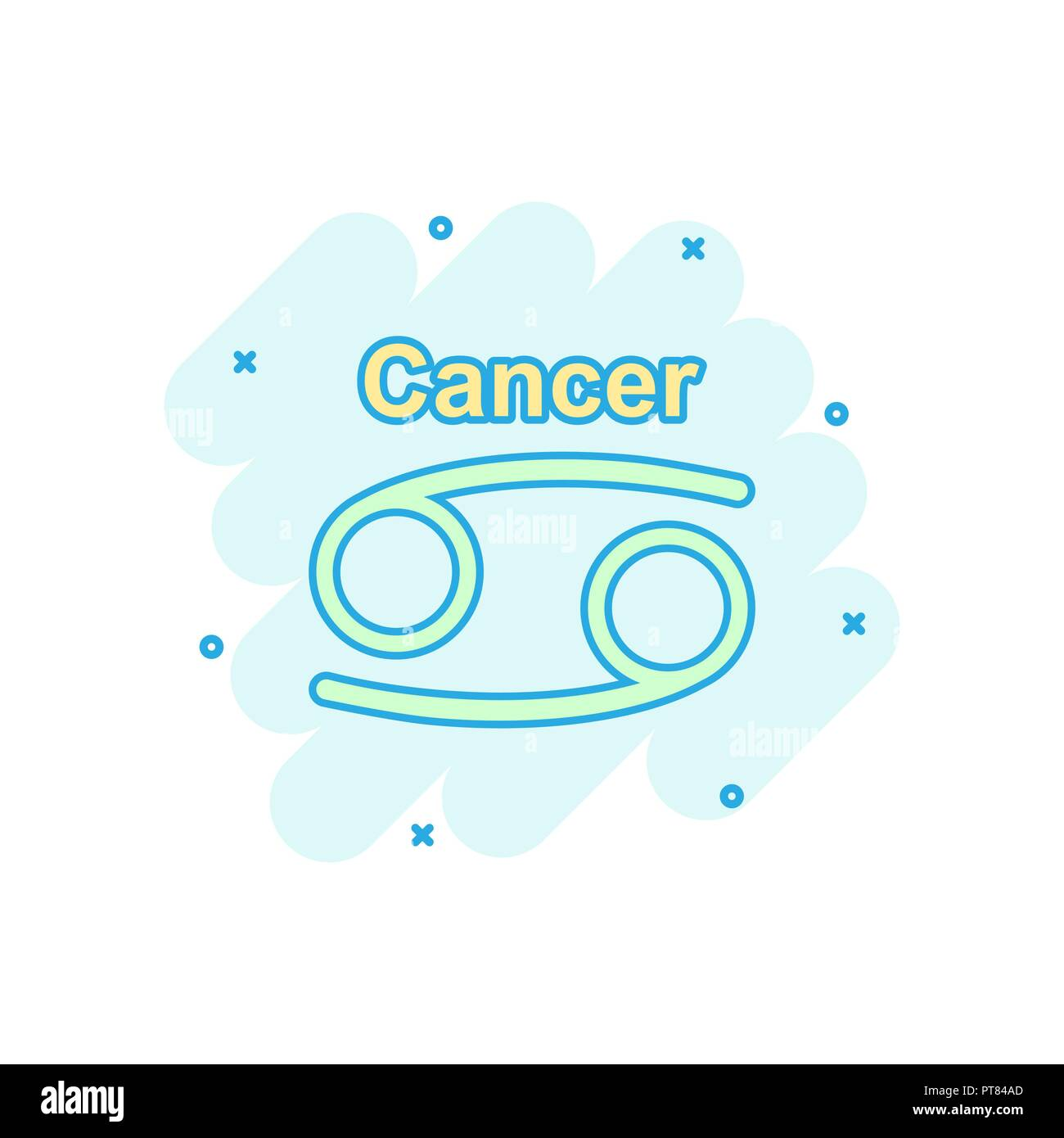 Calendario Astrologico Animato.Cancer Constellation Cartoon Illustration Immagini Cancer