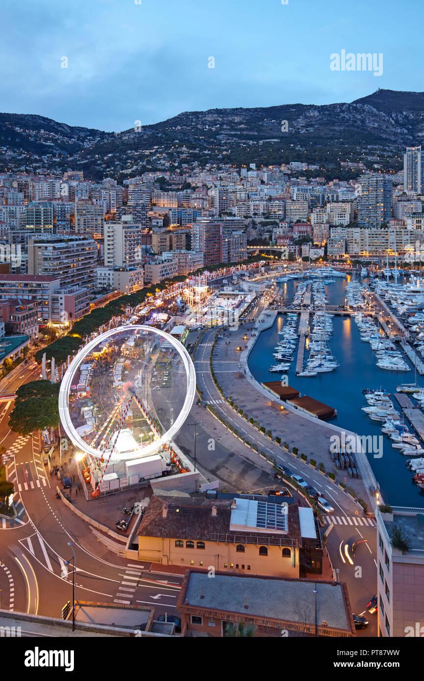 Vista del Monte Carlo dal Principe Palace, il Principato di Monaco Immagini Stock