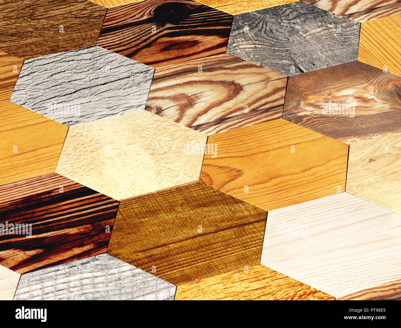 Nuove Tavole Di Parquet Di Quercia Di Diversi Colori Con Texture In Stile Rustico 3d Render Foto Stock Alamy