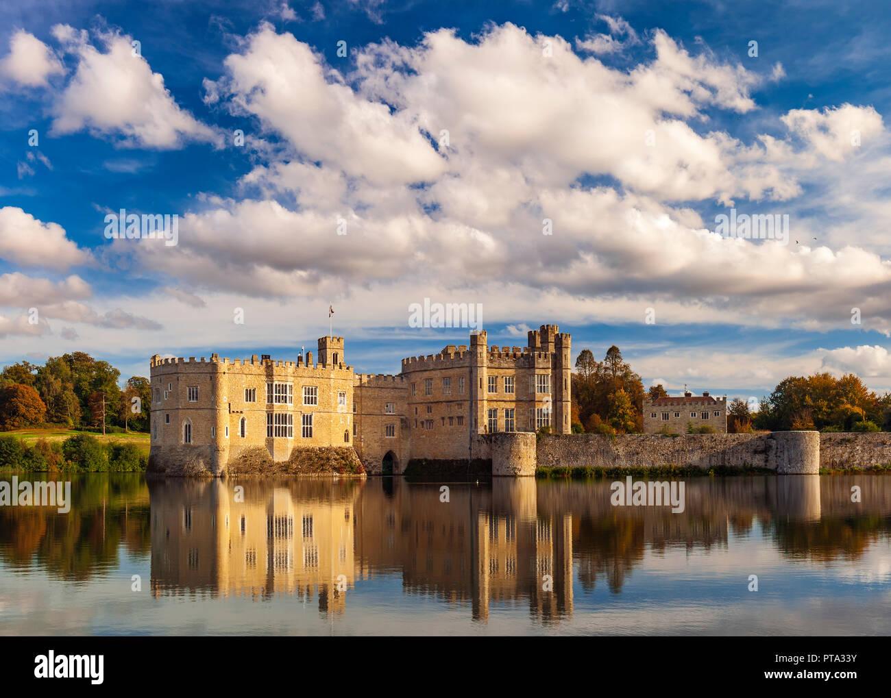 Il Castello di Leeds Kent Immagini Stock