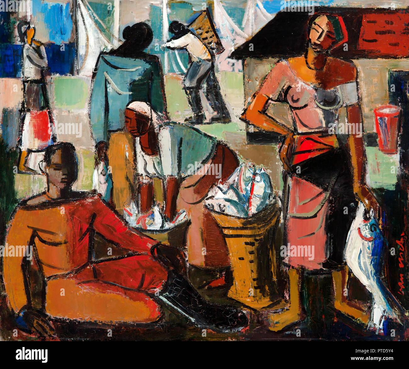 Lupo di Cibele, interno, circa 1930-1935 Olio su tela, Iziko South African National Gallery e Cape Town, Sud Africa. Immagini Stock
