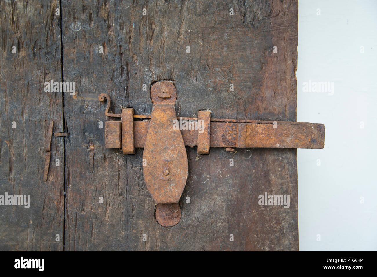 Antico tempio indiano il meccanismo di chiusura sportello Immagini Stock