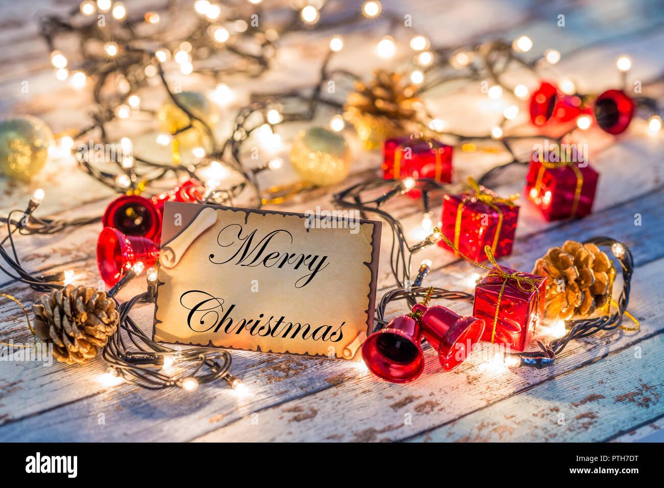 Immagini Natalizie Con Auguri.Biglietto Di Auguri Per Il Nuovo Anno O Il Natale Con Luci E