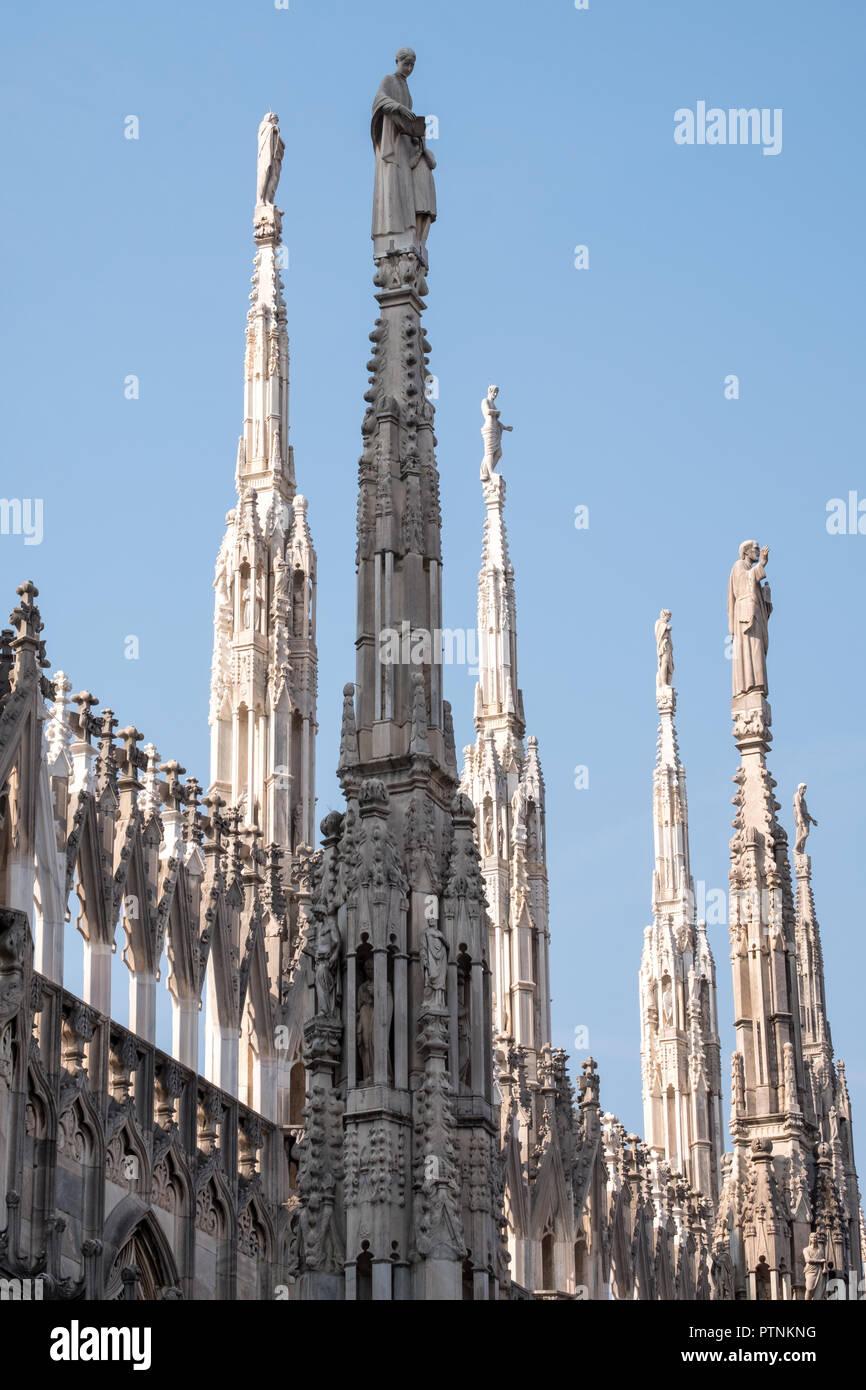 Foto Scattata In Alto Sulle Terrazze Del Duomo Di Milano