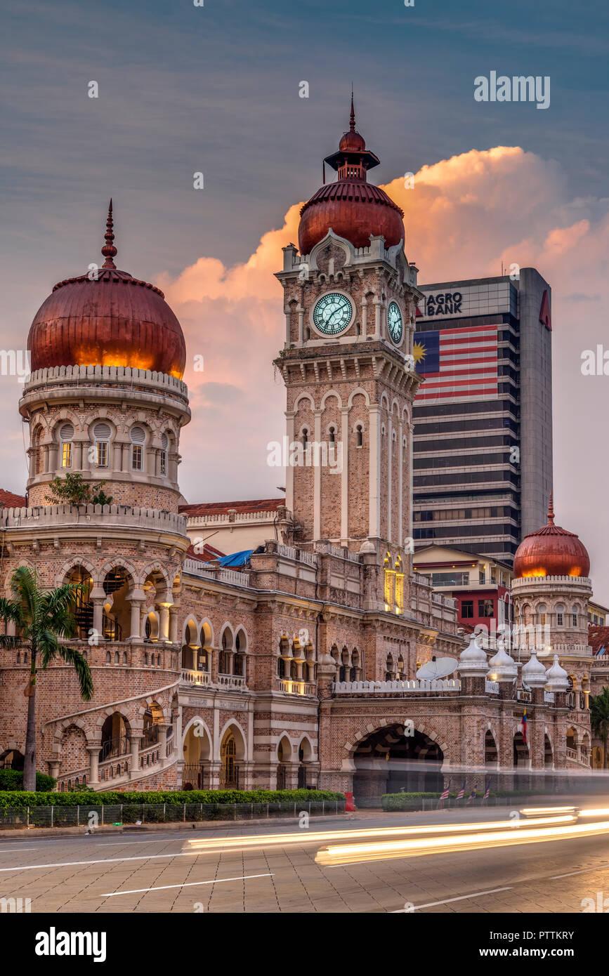 Palazzo Sultano Abdul Samad, Merdeka Square, Kuala Lumpur, Malesia Immagini Stock